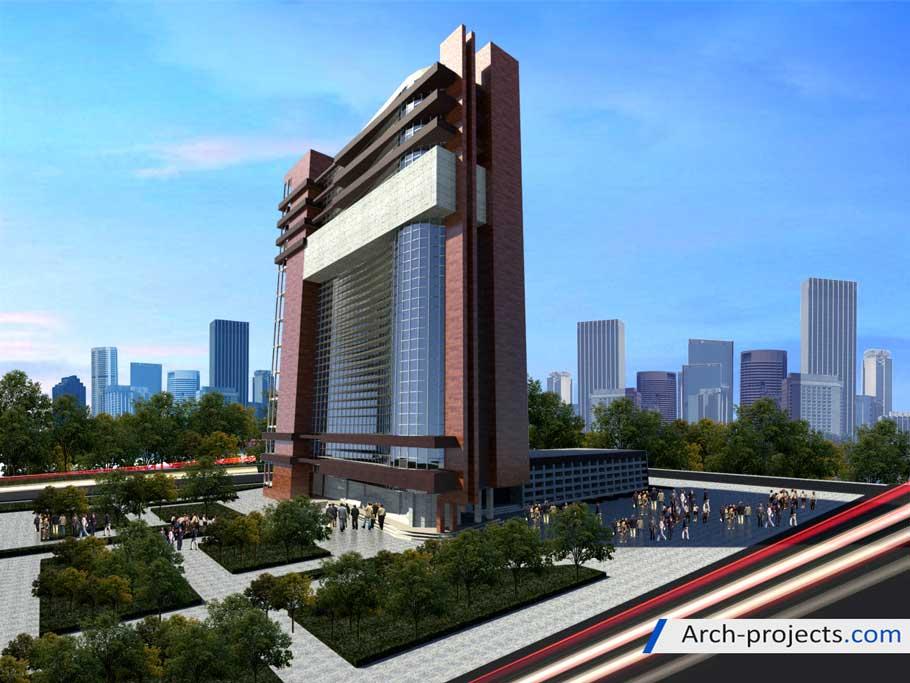 پروژه طراحی ساختمان اداری