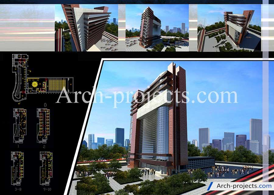 پروژه معماری ساختمان اداری