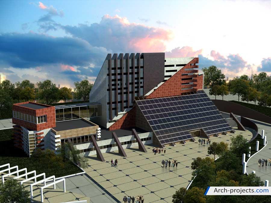 نقشه معماری دانشکده فنی مهندسی