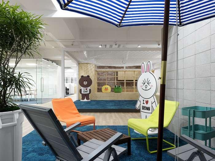 طراحی داخلی دفتر کار لاین