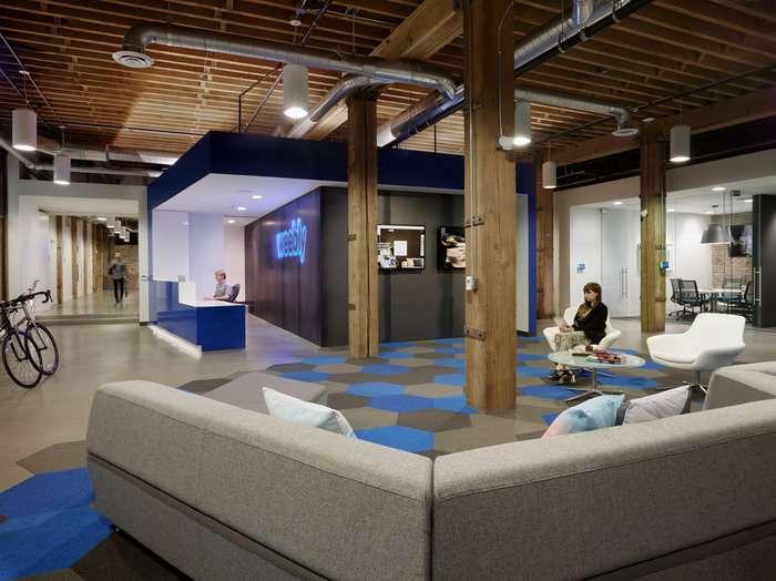 طراحی داخلی دفتر کار ویبلی