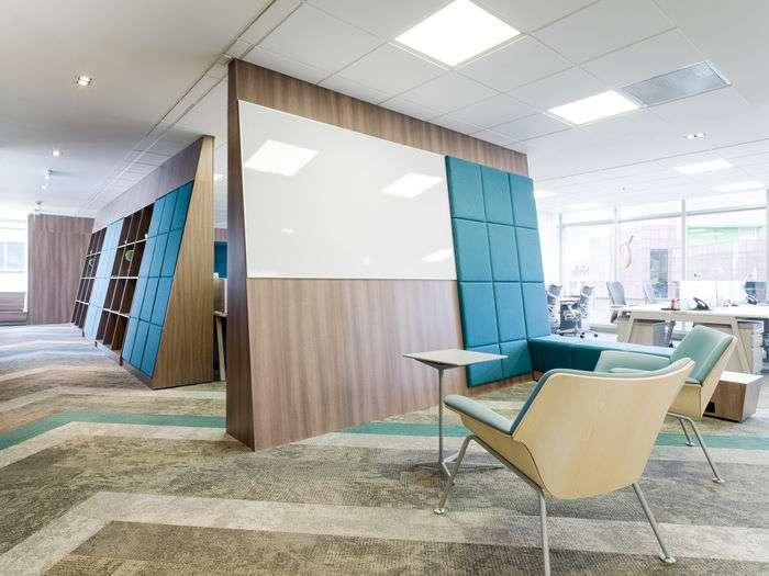 طراحی داخلی دفتر کار رد هت