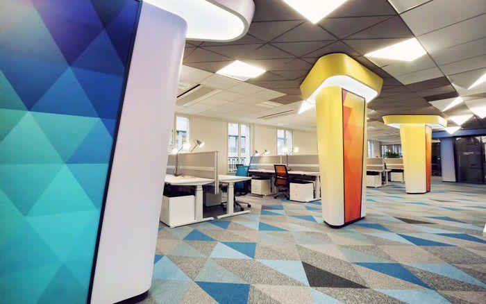 طراحی داخلی دفتر لینکدین