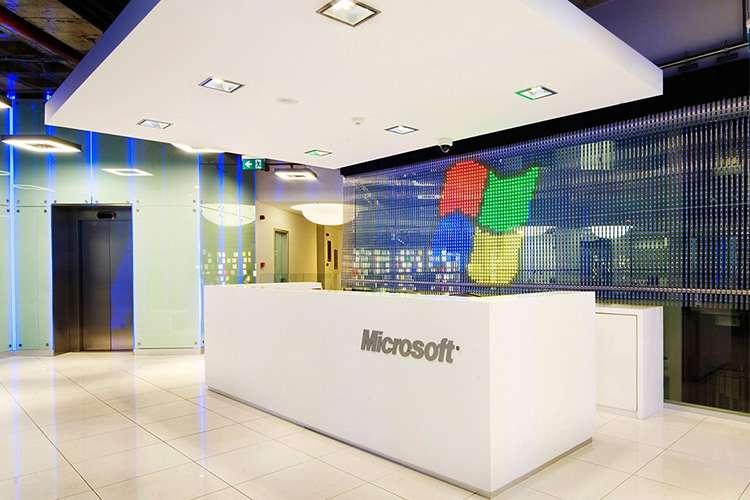 طراحی داخلی دفتر کار مایکروسافت
