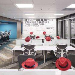 طراحی داخلی دفتر کار رد هت – بوگوتا کلمبیا