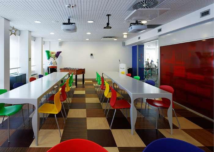 طراحی داخلی دفتر کار گوگل