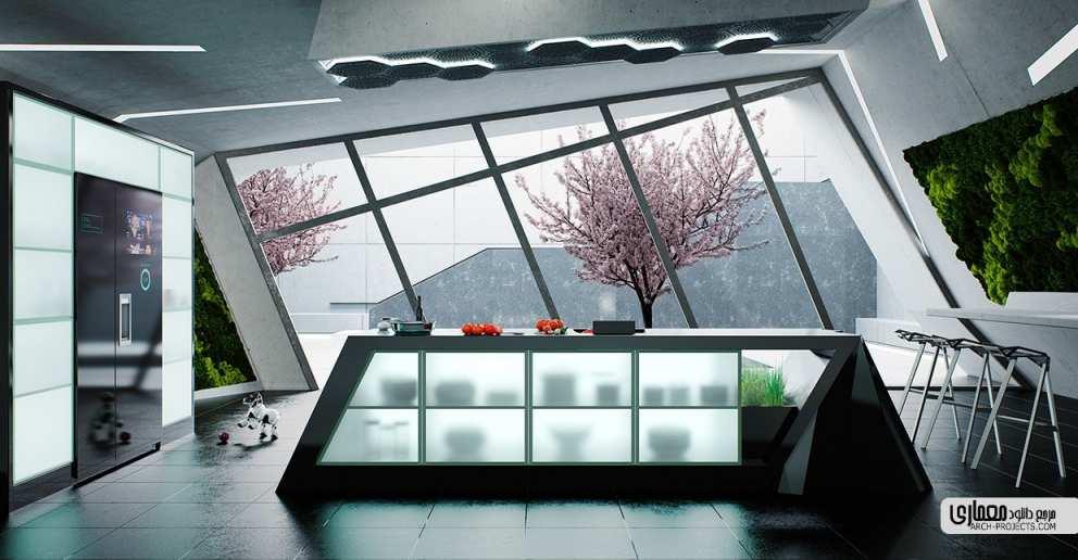 طرح مدرن آشپزخانه