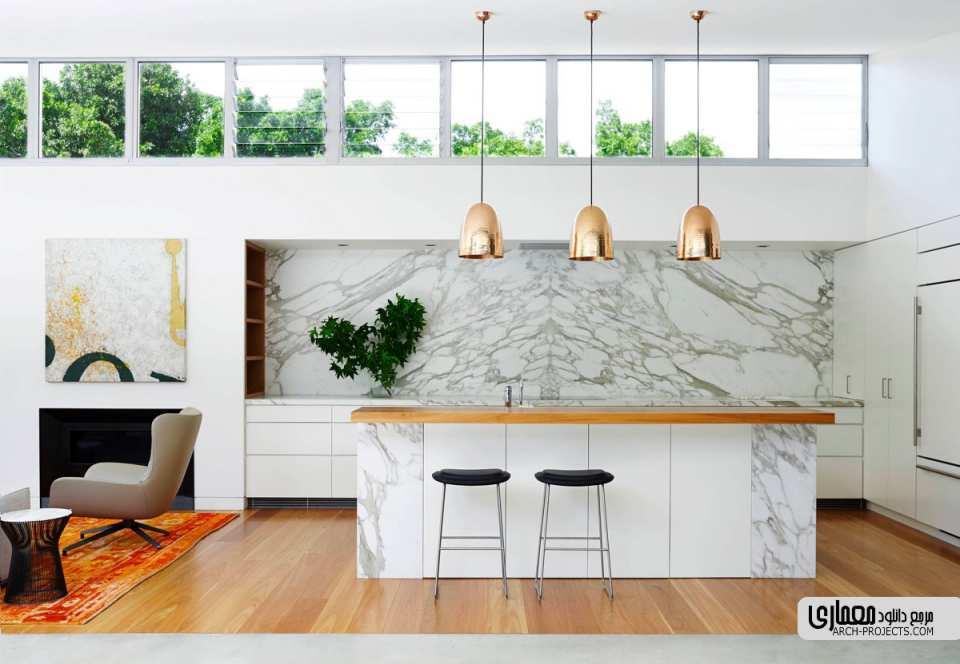 طراحی آشپزخانه مدرن سفید
