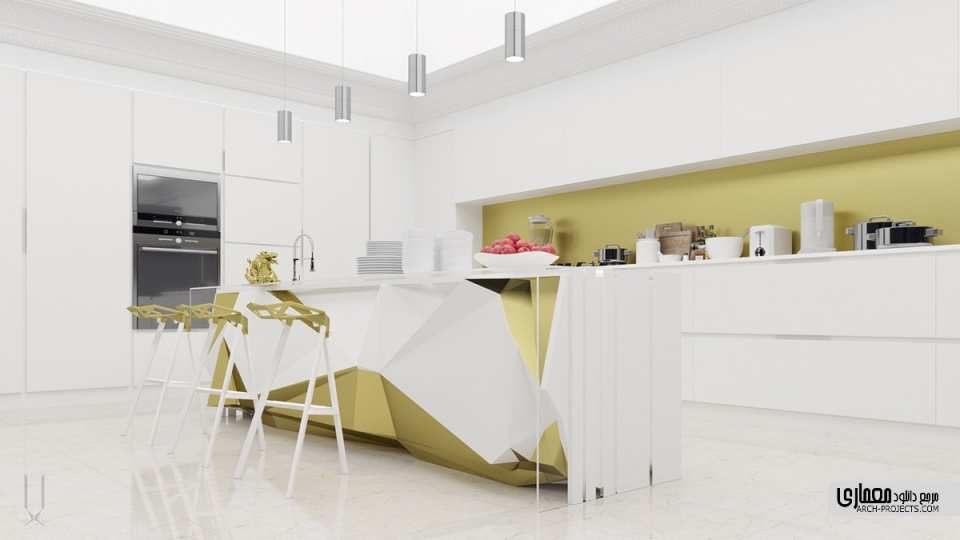 40 طرح مدرن آشپزخانه با اشکال هندسی نامتعارف