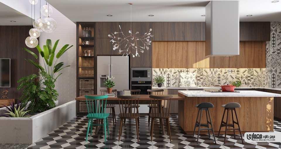 طراحی آشپزخانه مدرن ایرانی