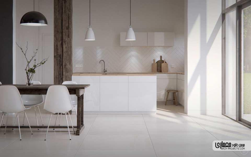 طراحی مدرن آشپزخانه