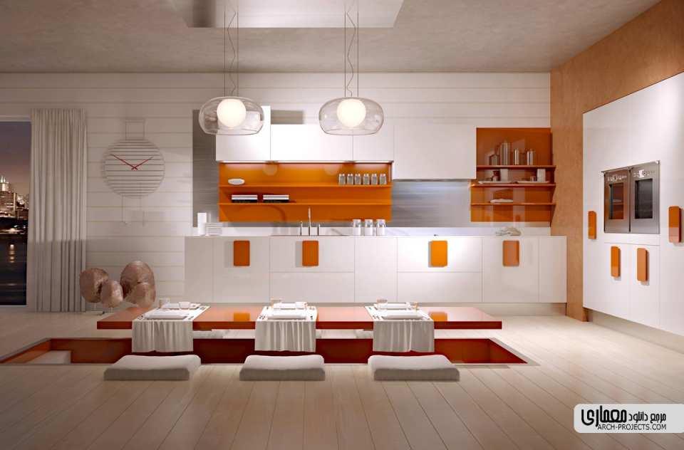 طراحی مدرن کابینت آشپزخانه
