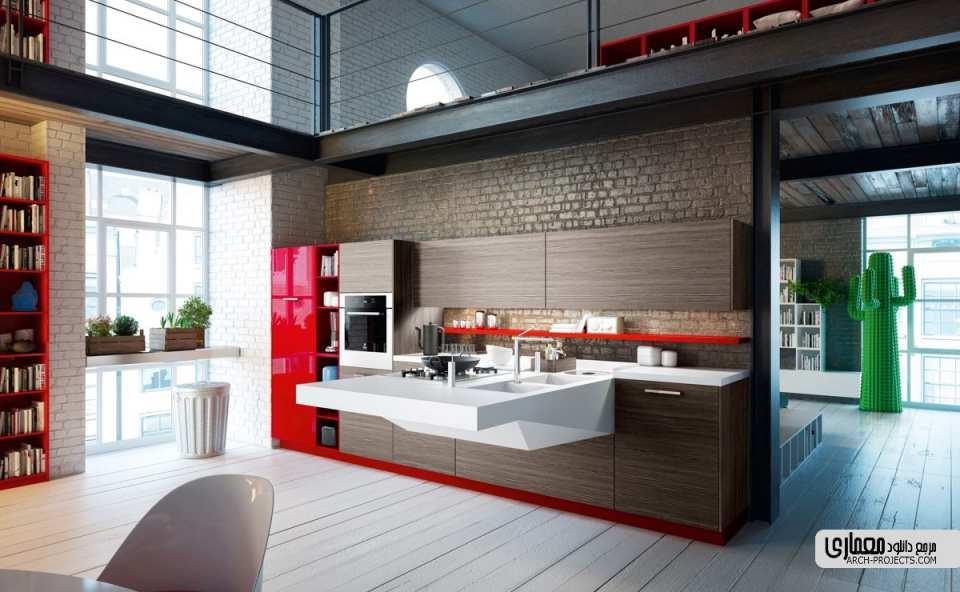 طراحی مدرن کابینت
