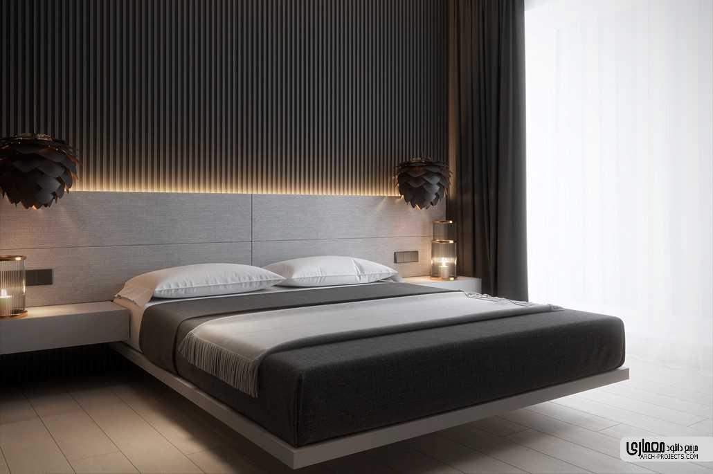 طراحی اتاق خواب با تم سیاه