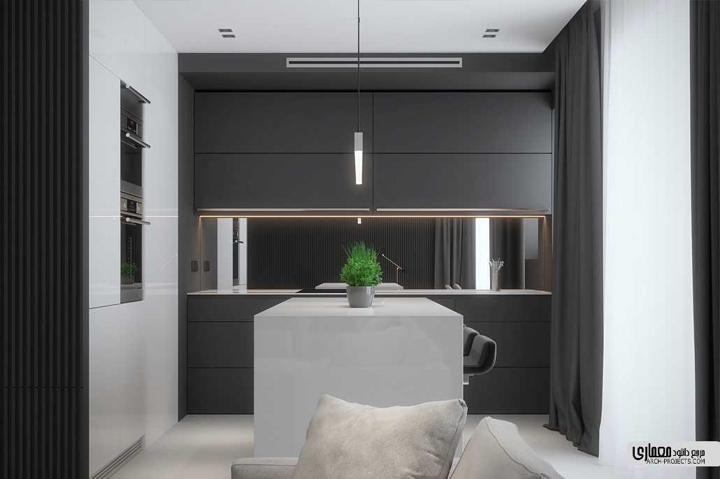 طراحی خانه با تم سیاه و خاکستری