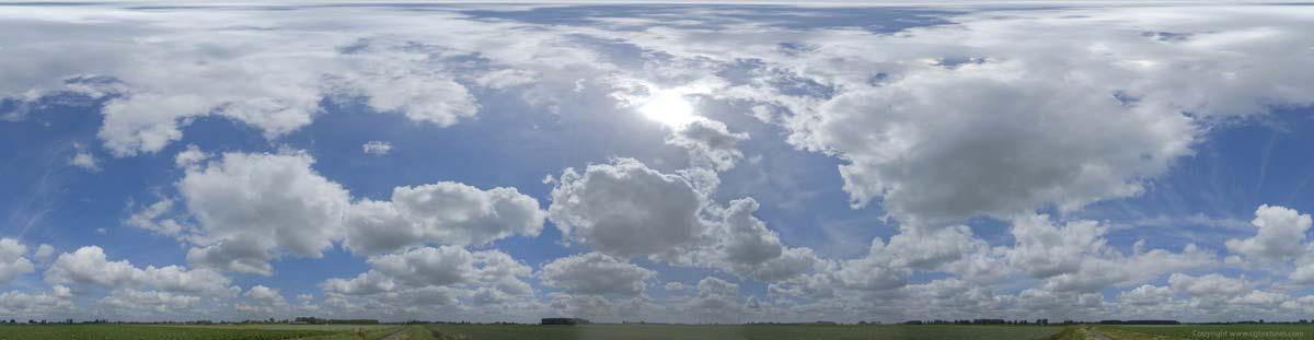 بک گراند آسمان نیمه ابری