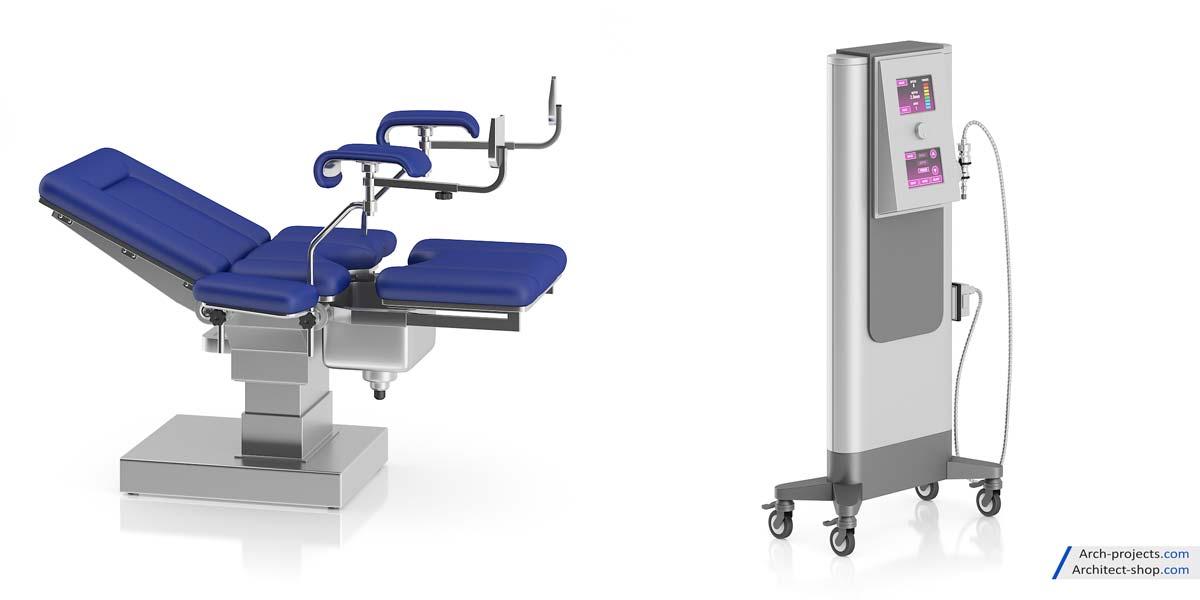 مدل سه بعدی لوازم پزشکی