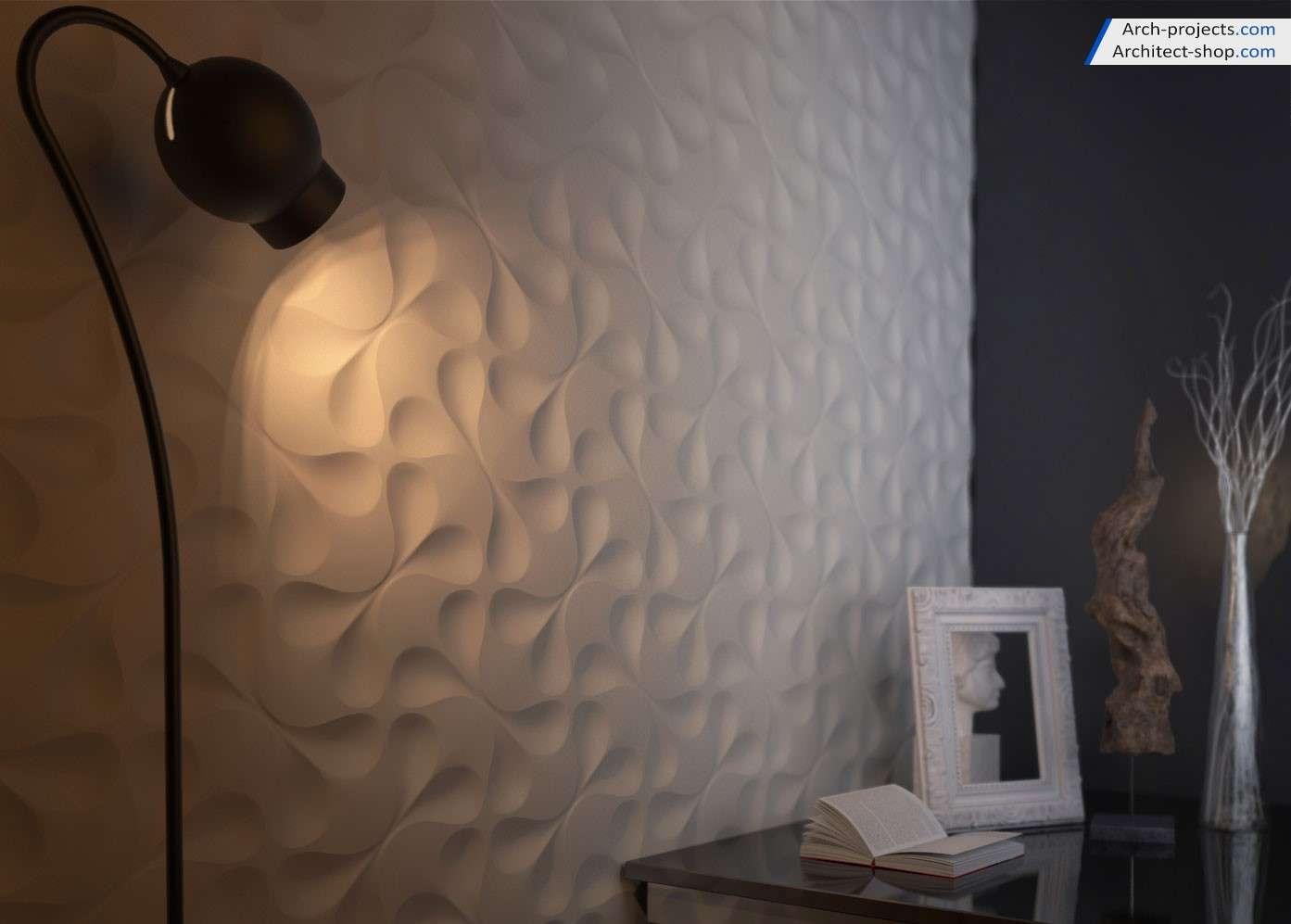 دانلود آبجکت دیوار پوش سه بعدی