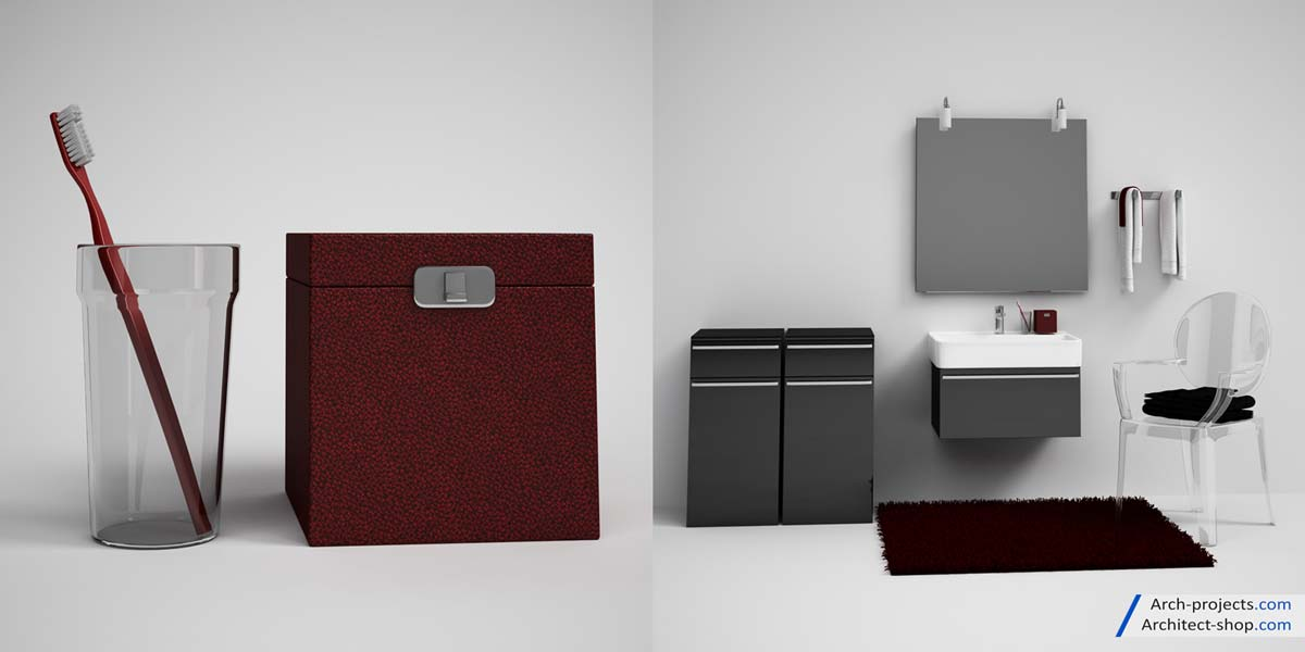 مجموعه مدل سه بعدی حمام