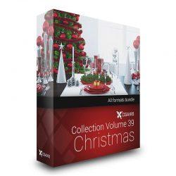 مدل سه بعدی کریسمس از CGAxis