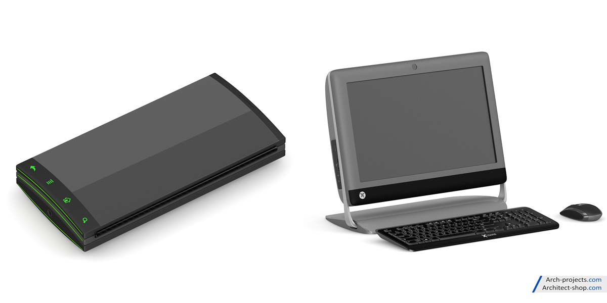 مدل سه بعدی لوازم الکترونیکی