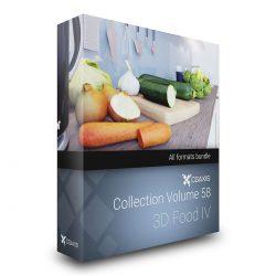 دانلود مدل سه بعدی غذا از CGAxis