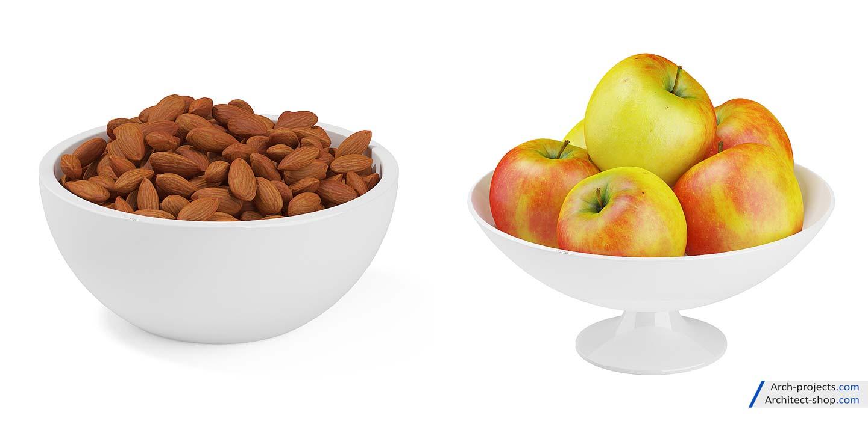مدل سه بعدی میوه و آجیل