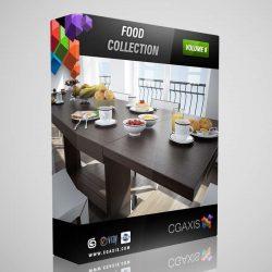 مدل سه بعدی مواد غذایی از CGAxis