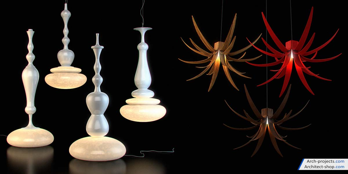 مدل سه بعدی لوستر مدرن