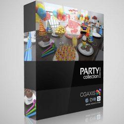 مدل سه بعدی ابزارهای جشن از CGAxis
