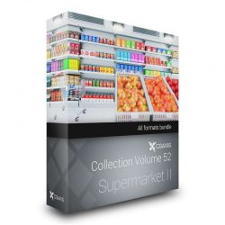 مدل سه بعدی سوپرمارکت از CGAxis (مجموعه دوم)