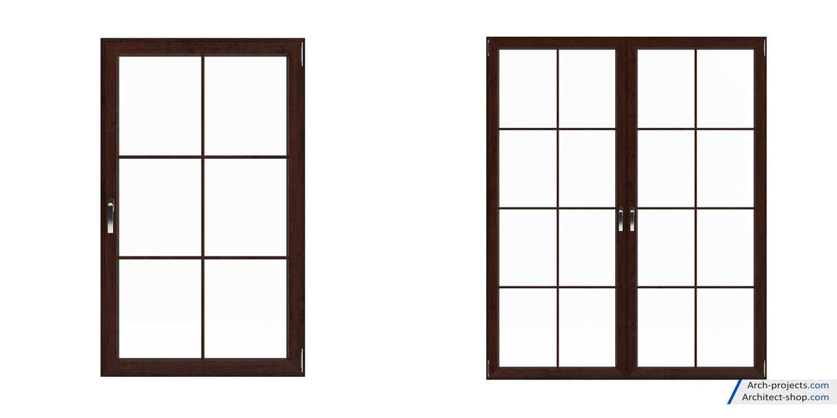 مجموعه مدل سه بعدی پنجره