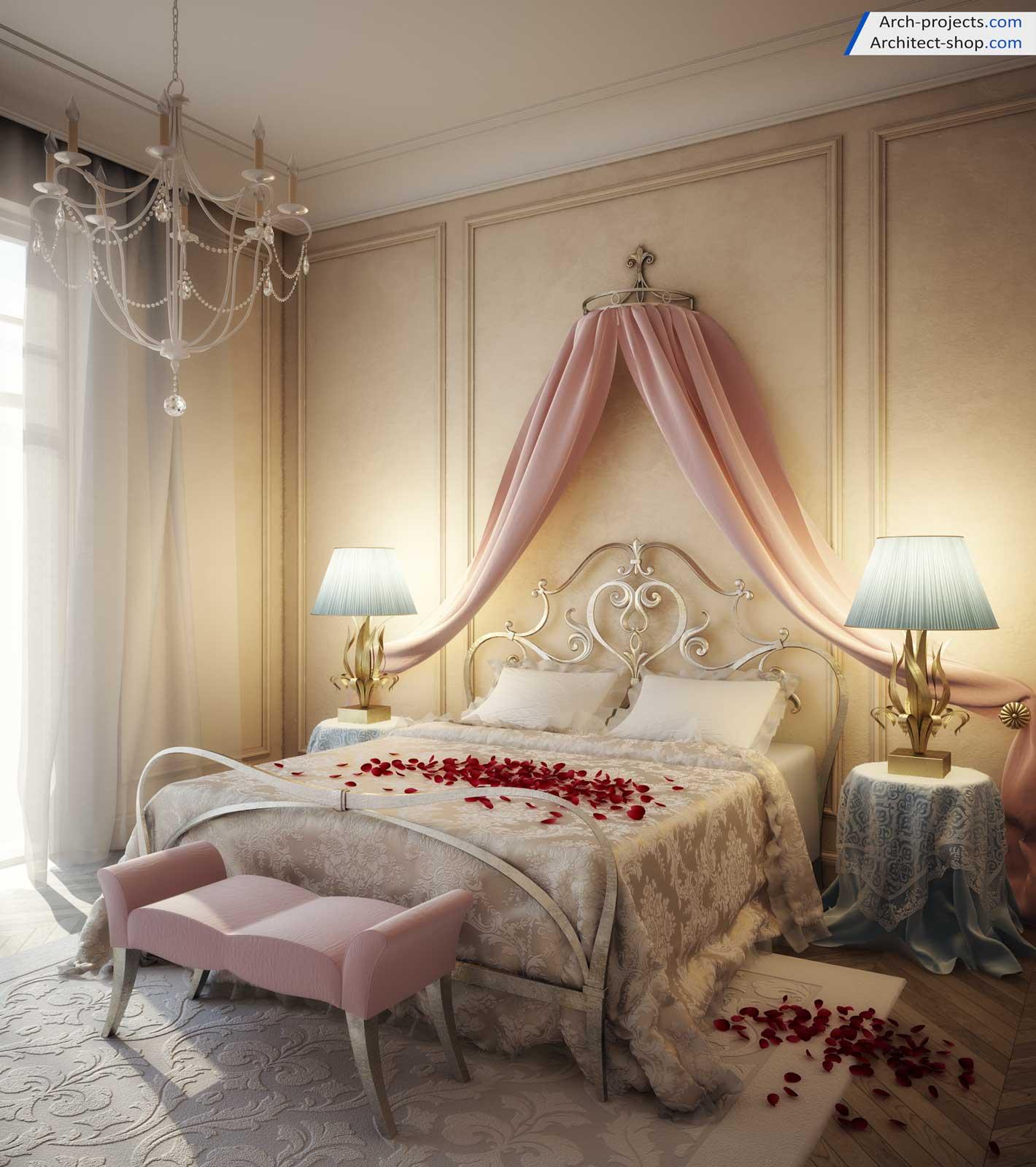 آموزش 3dmax طراحی اتاق خواب کلاسیک