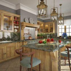 آموزش مدلسازی و رندر آشپزخانه کلاسیک در تری دی مکس