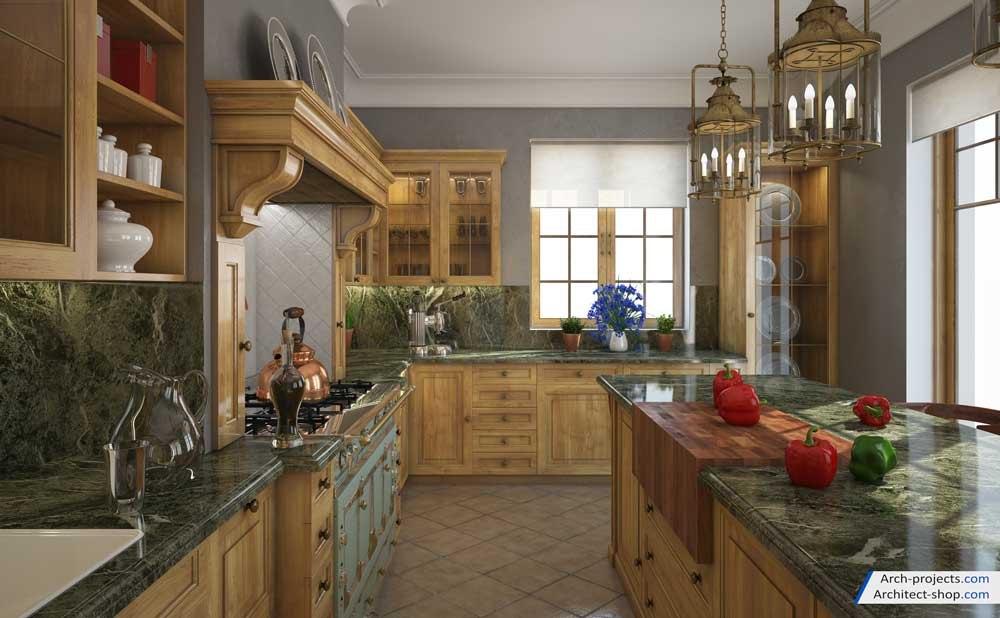 آموزش طراحی آشپزخانه کلاسیک در 3dmax
