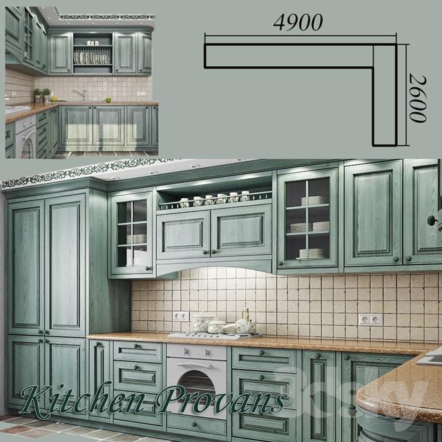 دانلود مدل سه بعدی کابینت آشپزخانه کلاسیک