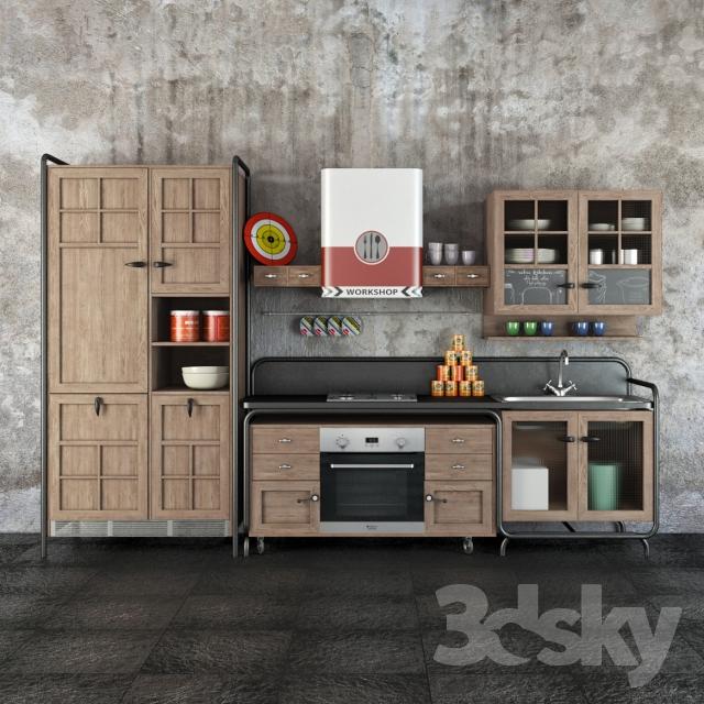 دانلود مدل کابینت آشپزخانه