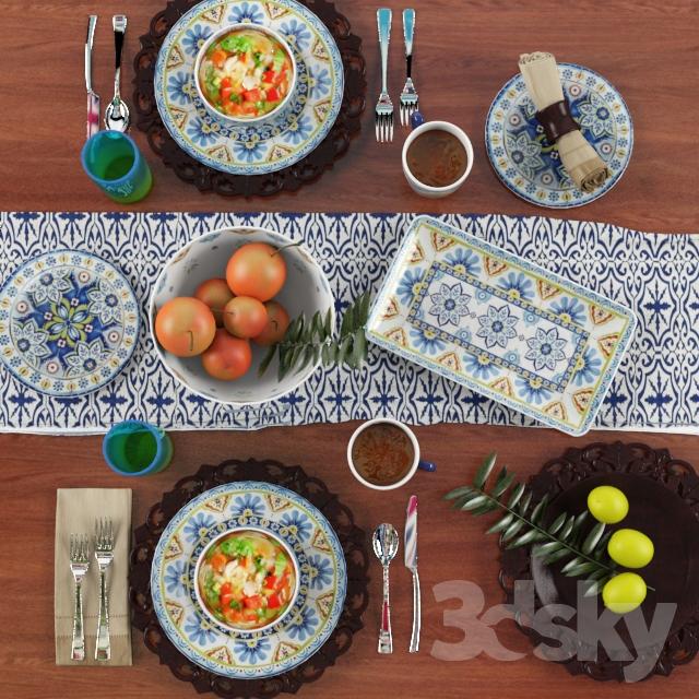دانلود آبجکت میز غذا