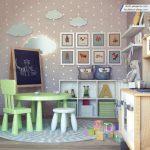 مدل سه بعدی اتاق کودک