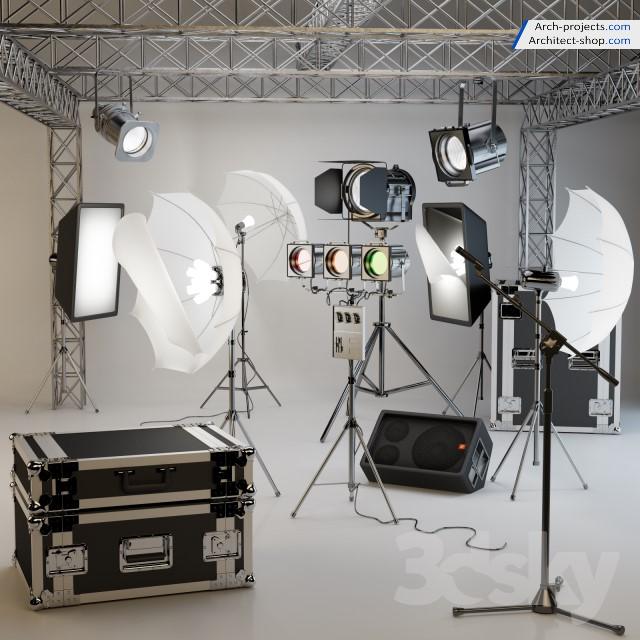 مدل سه بعدی استودیو عکاسی