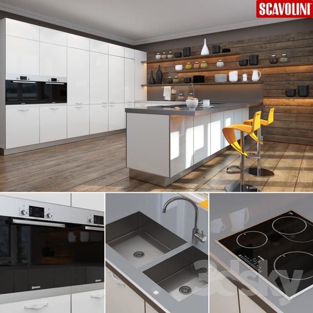 دانلود مدل سه بعدی کابینت آشپزخانه