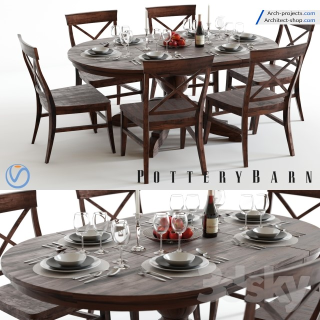 دانلود آبحکت میز و صندلی نهار خوری