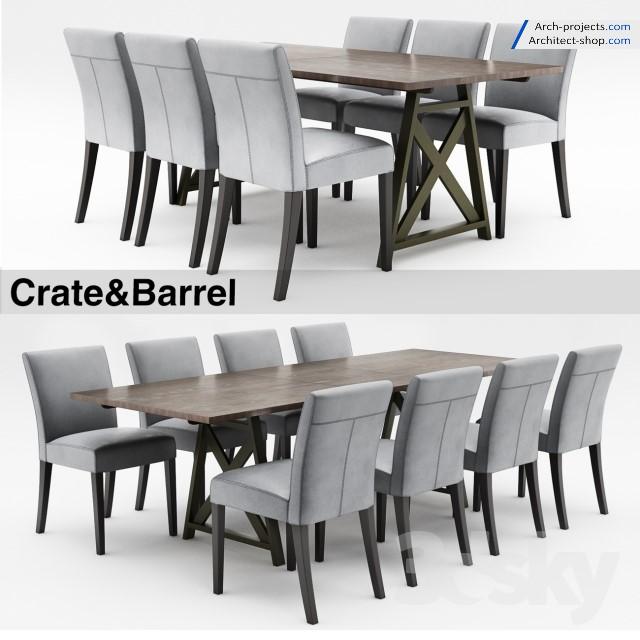 دانلود مدل سه بعدی میز و صندلی نهار خوری