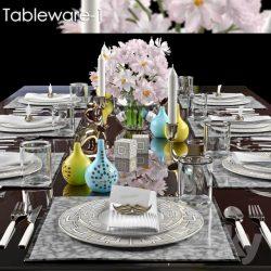 دانلود مدل سه بعدی میز غذا