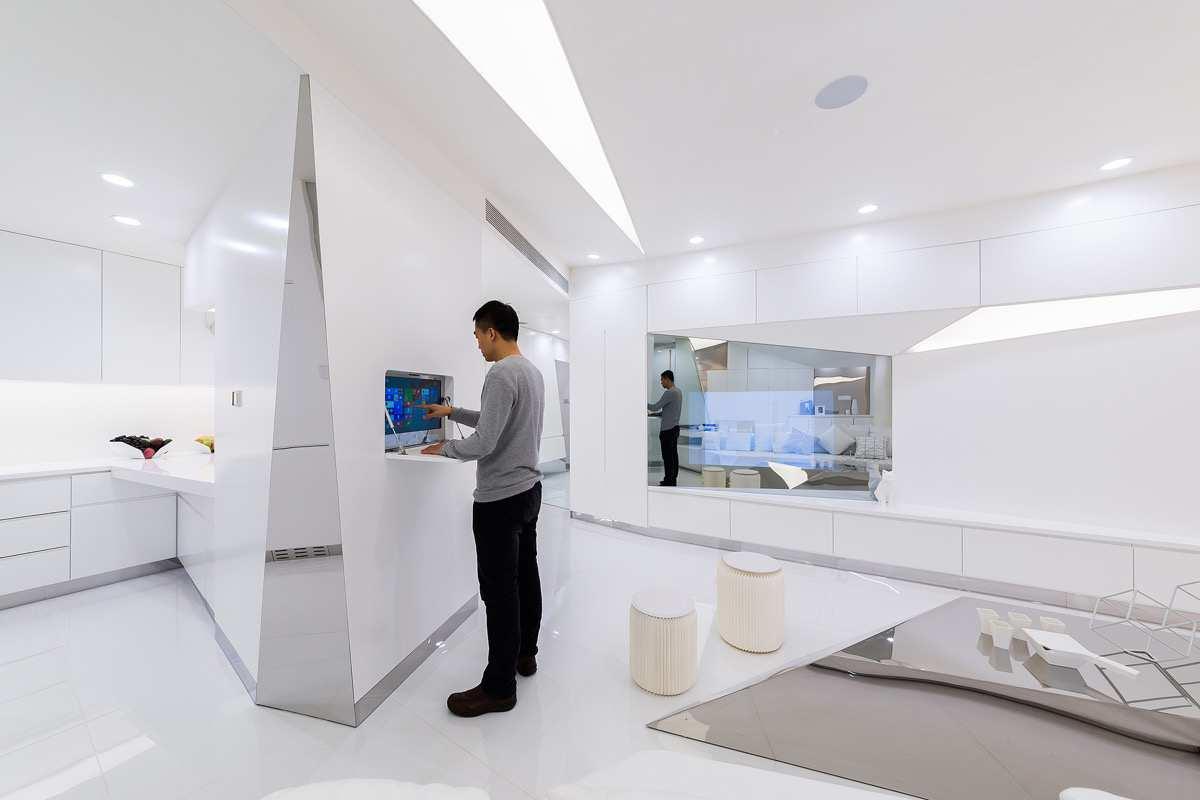 آپارتمان مدرن به سبک آینده