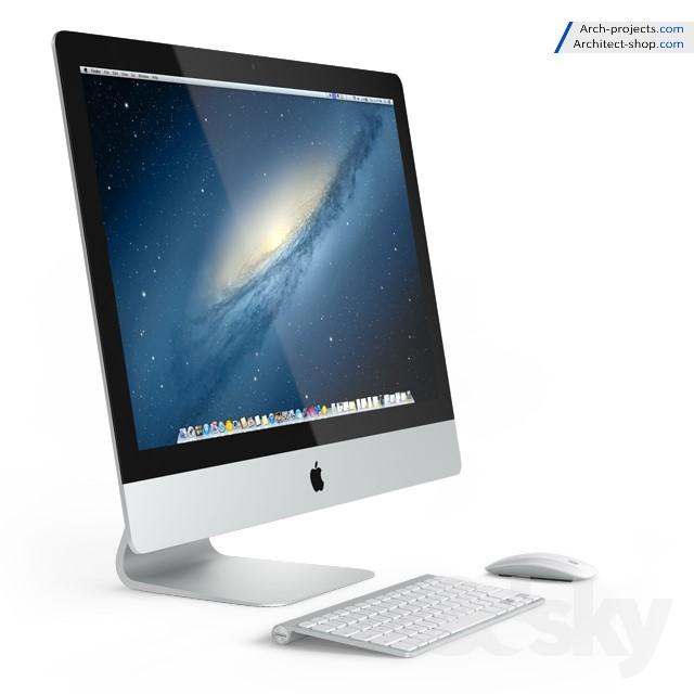 مدل سه بعدی کامپیوتر اپل