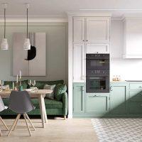 آپارتمان با تم سبز