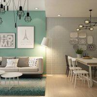 آپارتمان کوچک با دکوراسیون آسیایی و اسکاندیناوی