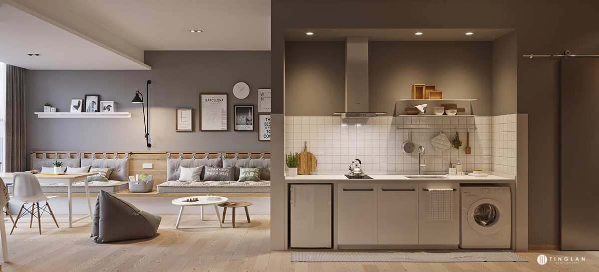 طراحی آپارتمان در مساحت کم