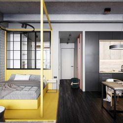 طراحی داخلی 2 نمونه آپارتمان در مساحت کم